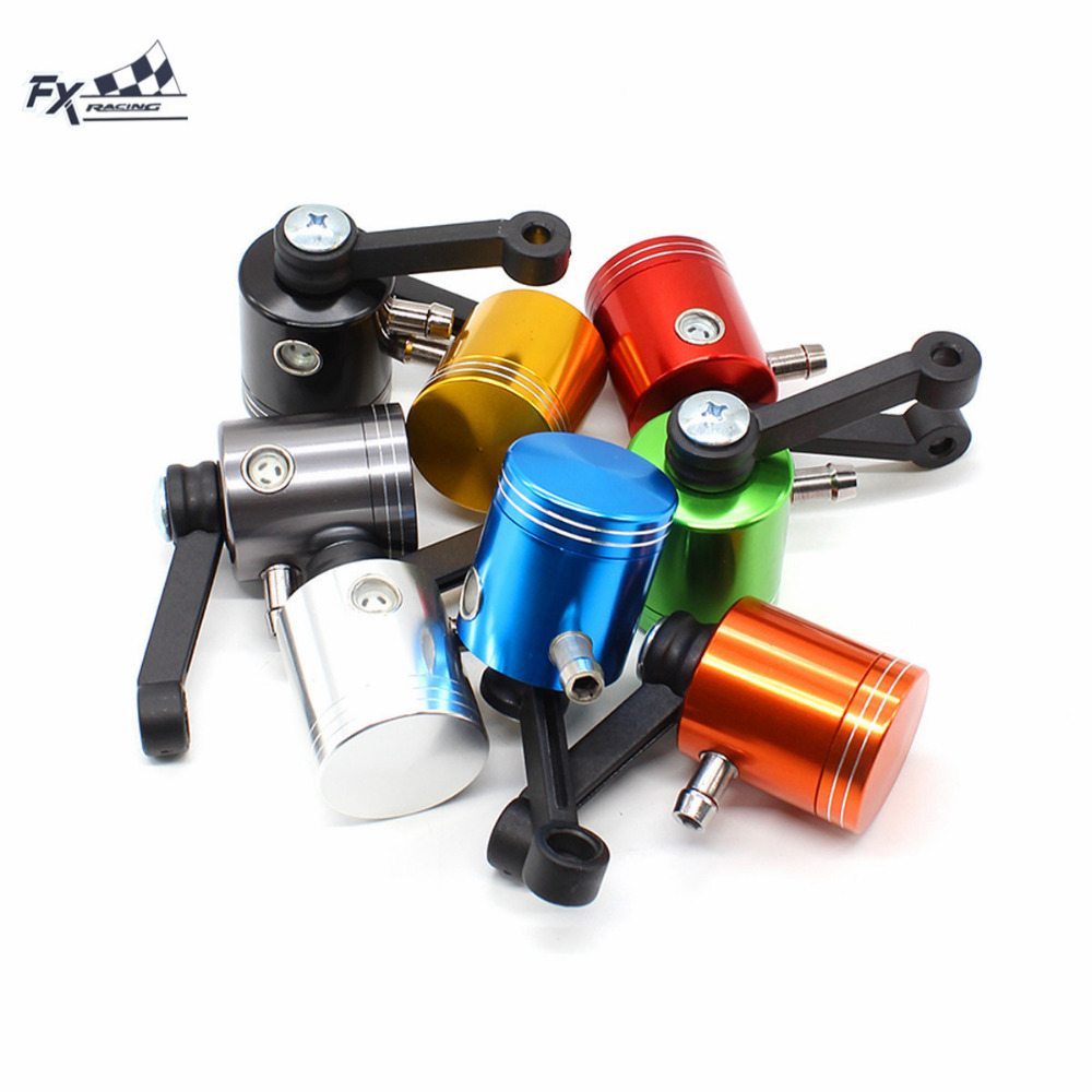 Universal Motorcycle Brake Fluid Reservoir Clutch Tank Cylinder Master Oil Cup For Suzuki GSXR600 GSXR 750 GSXR1000 GSXR1300 universal locking 0 625 inch master cylinder hydraulic drift brake handbrake with oil tank reservoir