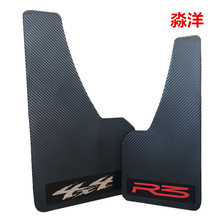 Top racing universal truck mudguard auto front rear wheel black plastic mud flaps guard car fender two pcs