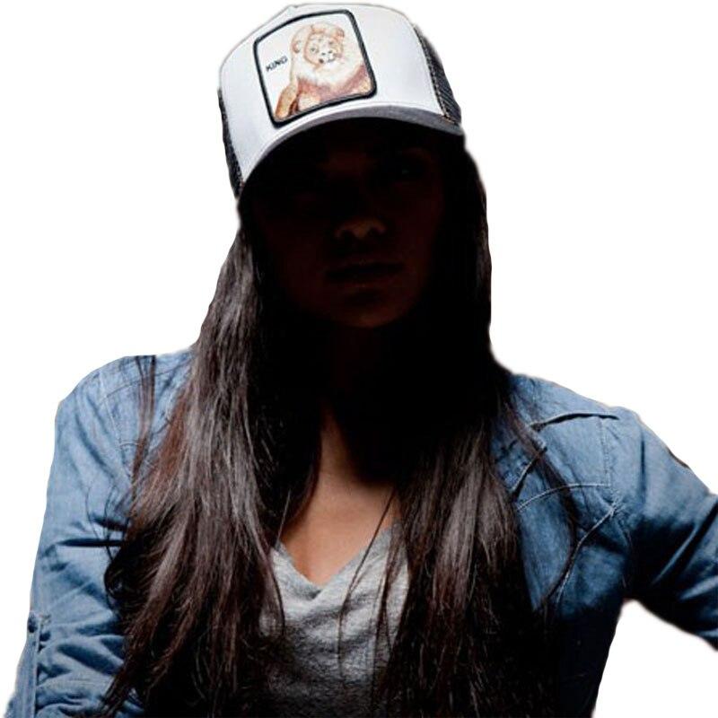 Unisex Fashion Brand Animals Embroidery   Baseball     Caps   Men Women Snapback Hip Hop Hat Streetwear Summer Breathable Mesh Sun Gorra