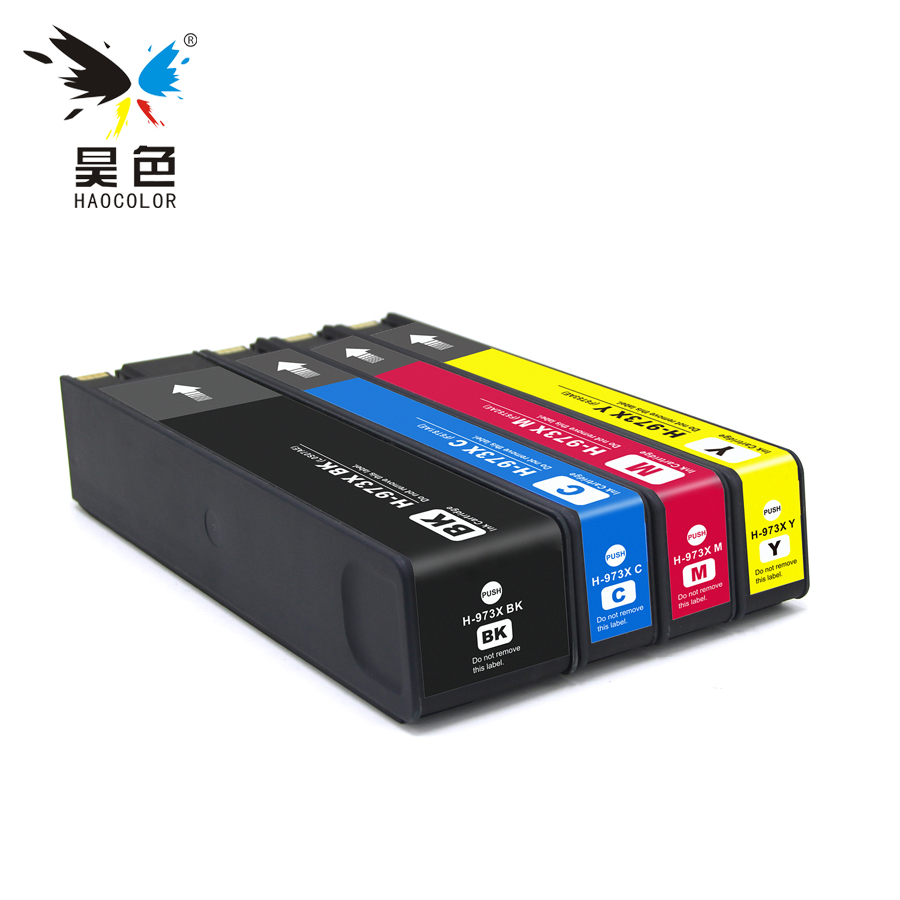 HAOCOLOR remanufactured pigment based Ink Cartridges For HP 973 973X HP973 HP973X for HP Pagewide pro 452dn dw 477dn 552dw 577dw стоимость