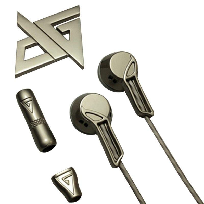 bilder für AUGLAMOUR RX-1 Kopfhörer In Ohr Earburd Flachkopf Stecker Audifonos Fone De Ouvido Auriculares Volle Metall Earbud Headset