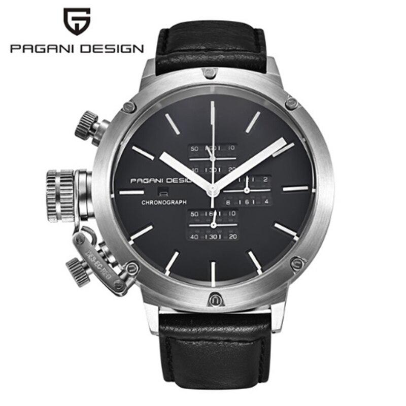 PAGANI DESIGN Sport montres hommes de plongée polyvalent Unique innovant chronographe montre pour hommes multifonction étanche montre