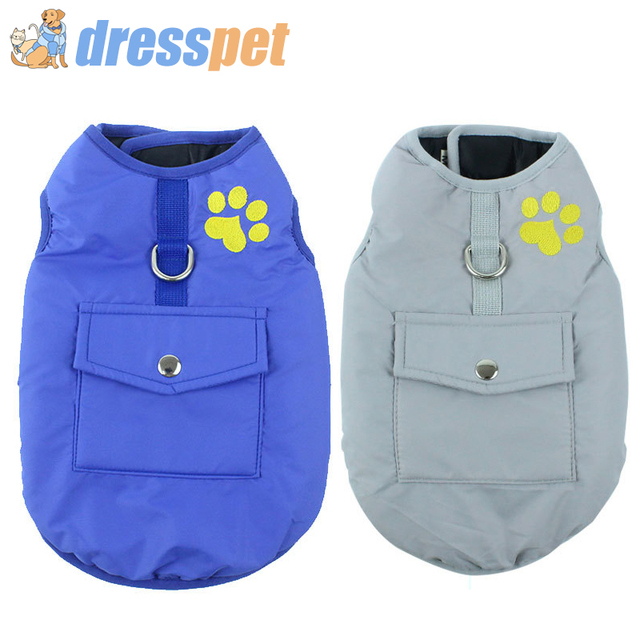 Pet Dog Clothes Jacket Coat Double-Side Wear Clothing Winter Warm Cotton for Yorkshire Small Large Big Dogs Puppy Cloth Costume