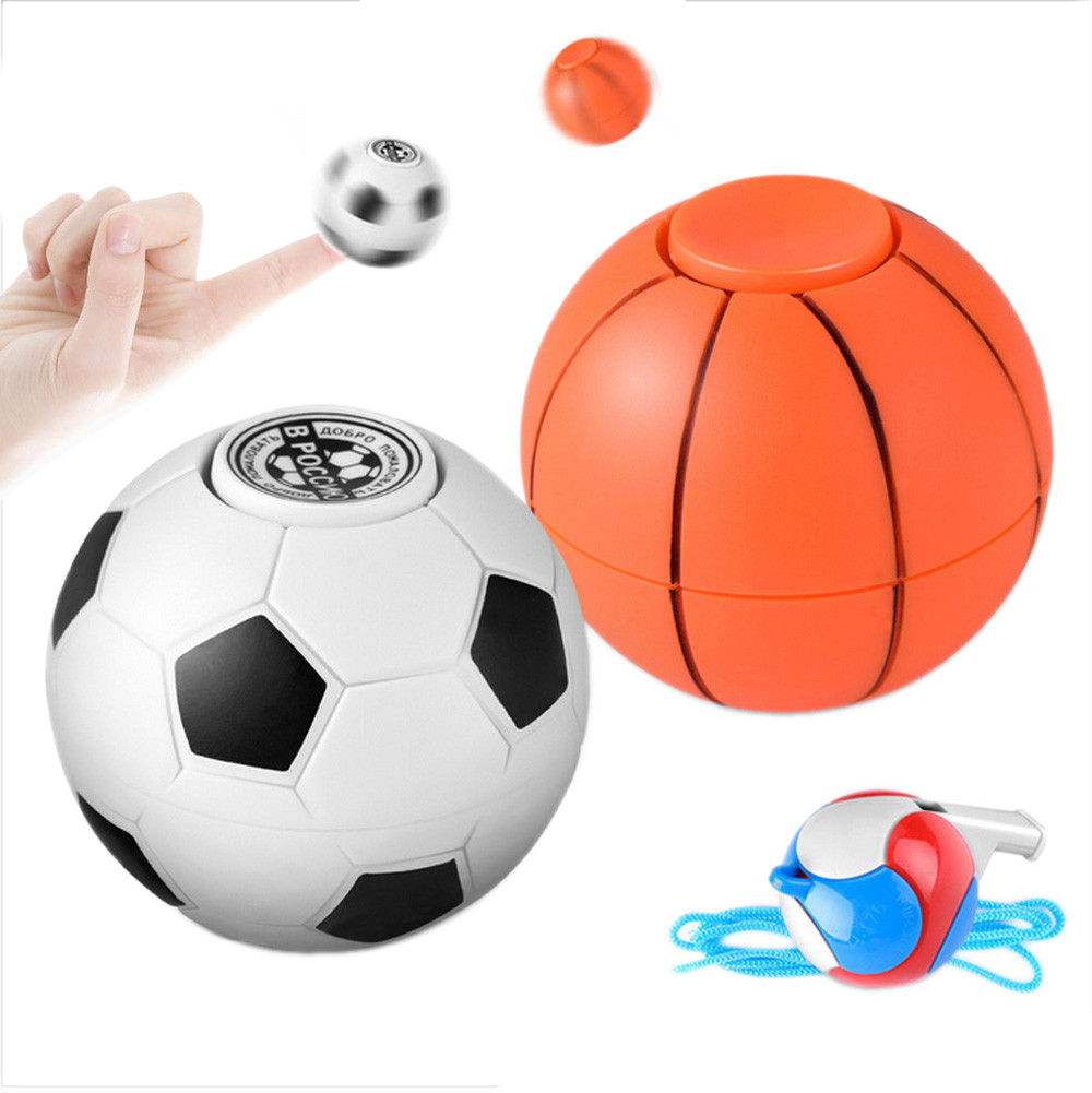 Sozzy 2018 # Football Basketball Finger Hand Spinner EDC Stress Relief Gyro Toy