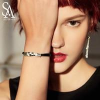 SA SILVERAGE 925 Sterling Silver Bracelets Bangles for Women New Medusa Serpentine Silver Bracelet Female Korean Simple Bracelet