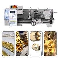 110V/220V Small mini Household Lathe WM210V Mini Lathe Machine Tool 600W Stepless Speed Regulation EU/US/UK Plug