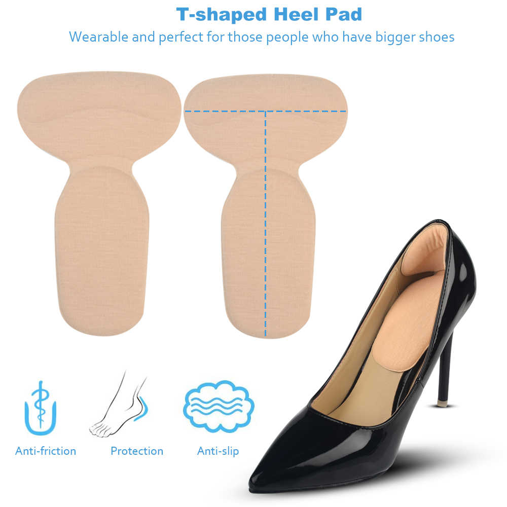 Sunvo รองเท้ากลับส้น Inserts นุ่ม T-Shape High Heel Liner Grips ความเจ็บปวดบรรเทาเบาะรองนั่ง Protector Pad Insole ผู้หญิงใส่