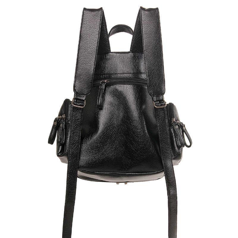 2018 Nuove Donne di Modo Zaino In Pelle Multifunzione Designer Softback Zaini Bookbags Per Ragazze Adolescenti Rivetto Borsa Femminile