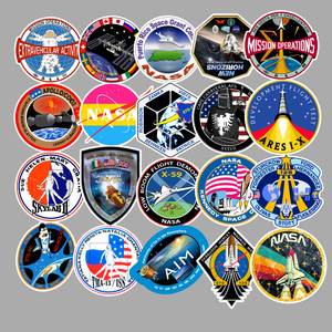 Image 4 - 94Pcs PVC Waterproof Sticker Toys Aerospace Theme Decal for Phone Laptop Luggage Bicycle Guitar Moto Adhesive Gift Stickers