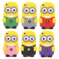 Case for iphone 5s 4s 4 5 Cute cartoon Despicable Me Yellow Minion silicon Cover for iphone 5 5S 4s 4 cartoon Case