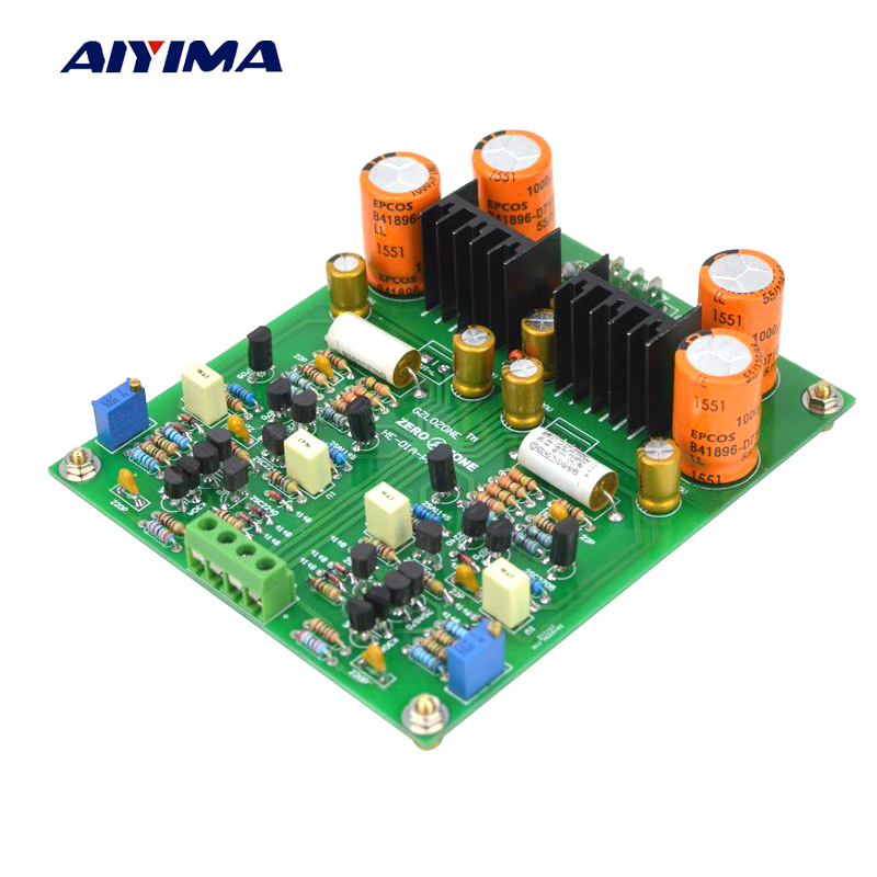 Aiyima Audio Amplifier Board Dual Channel HE01A Preamplifier Finished Board Refer to Marantz PM14A Circuit Dual AC18V