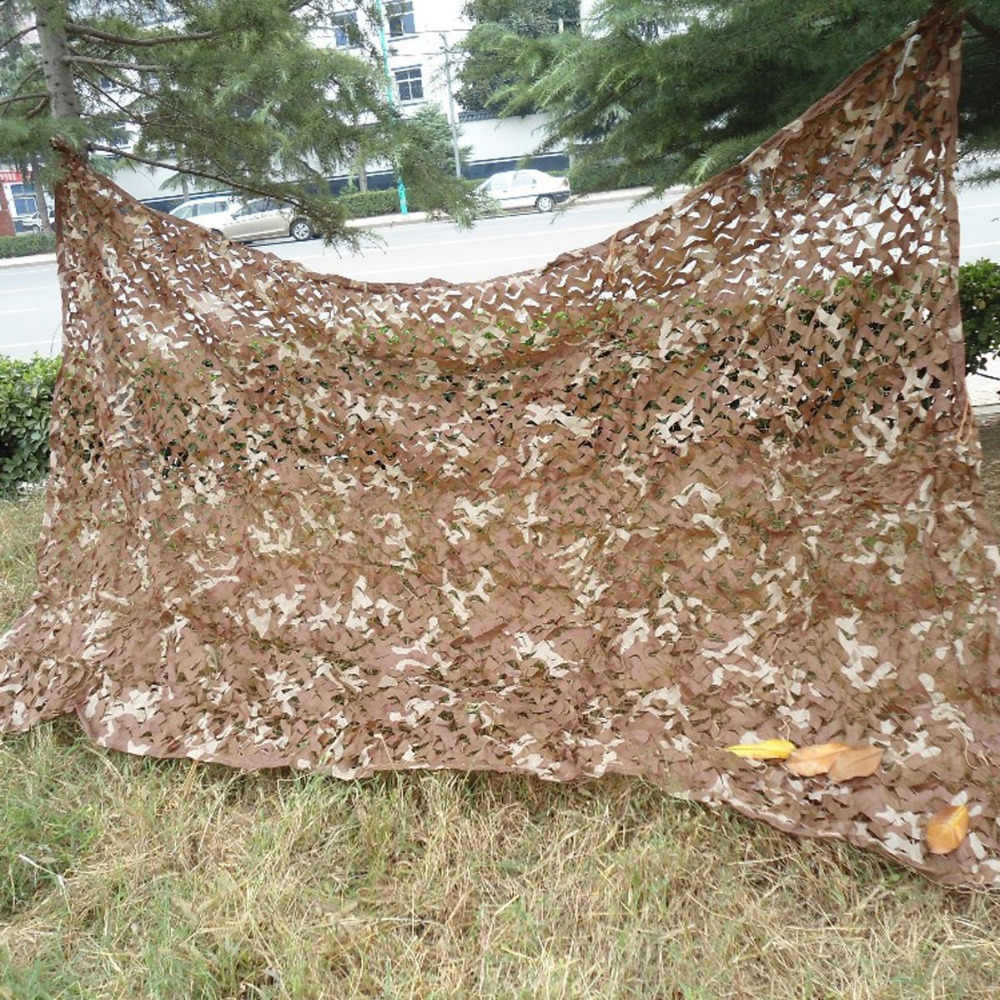 2M X 3M Desert Military Camouflage Net Camo Cover Sports Tent Army Jungle Netting for Camping Hunting Hiking