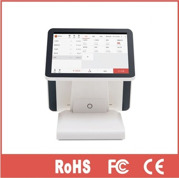 12 Inch Android POS System With 12 Inch Dual Screen All In One Ingenico