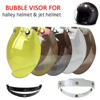 (1pc&5colors) 100% Original Motorcycle Helmet Visor Shield Retro Hallar Helmet Mask Vintage Helmets Bubble Visor|Motorcycle Glasses| |  -