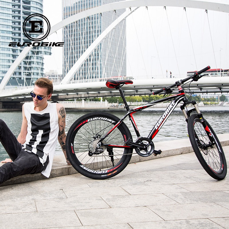 18a011413a5 EUROBIKE X1 27 Speed MOUTAIN BIKE Aluminum Double Brake Mens BICYCLE -in  Bicycle from Sports & Entertainment on Aliexpress.com   Alibaba Group
