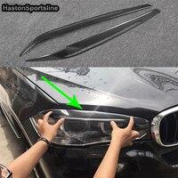 X5 F15 Carbon Fiber Headlight Eyelid Trim Headlamp Eyebrow for BMW X5 2014 2015 2016 2017