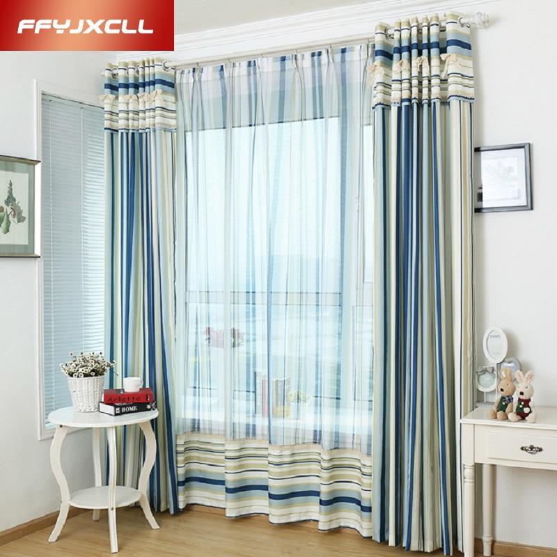 nueva moderna cortinas de tul para dormitorio sala de estar cortinas oscuras rayas tratamiento de la