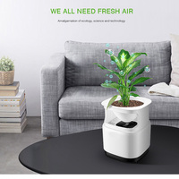 Ionizer Air Purifier For Home Desktop Anion Sterilization With Flowerpot Remove Cigarette Smoke Odor Smell Bacteria Air Cleaner