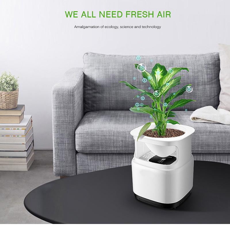 Ionizer Air Purifier For Home Desktop Anion Sterilization With Flowerpot Remove Cigarette Smoke Odor Smell Bacteria Air Cleaner air purifier for home household ionic air purifier with anion sterilization functions activated carbon filters for cleaning air