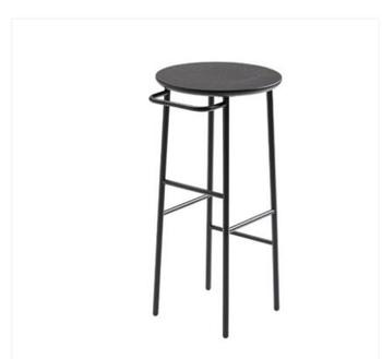Nordic bar stool wrought iron solid wood European bar stool bar stool modern minimalist chair bar chair high stool waterproof led bar stool bar chair bar stools modern remote control light color modify free shipping