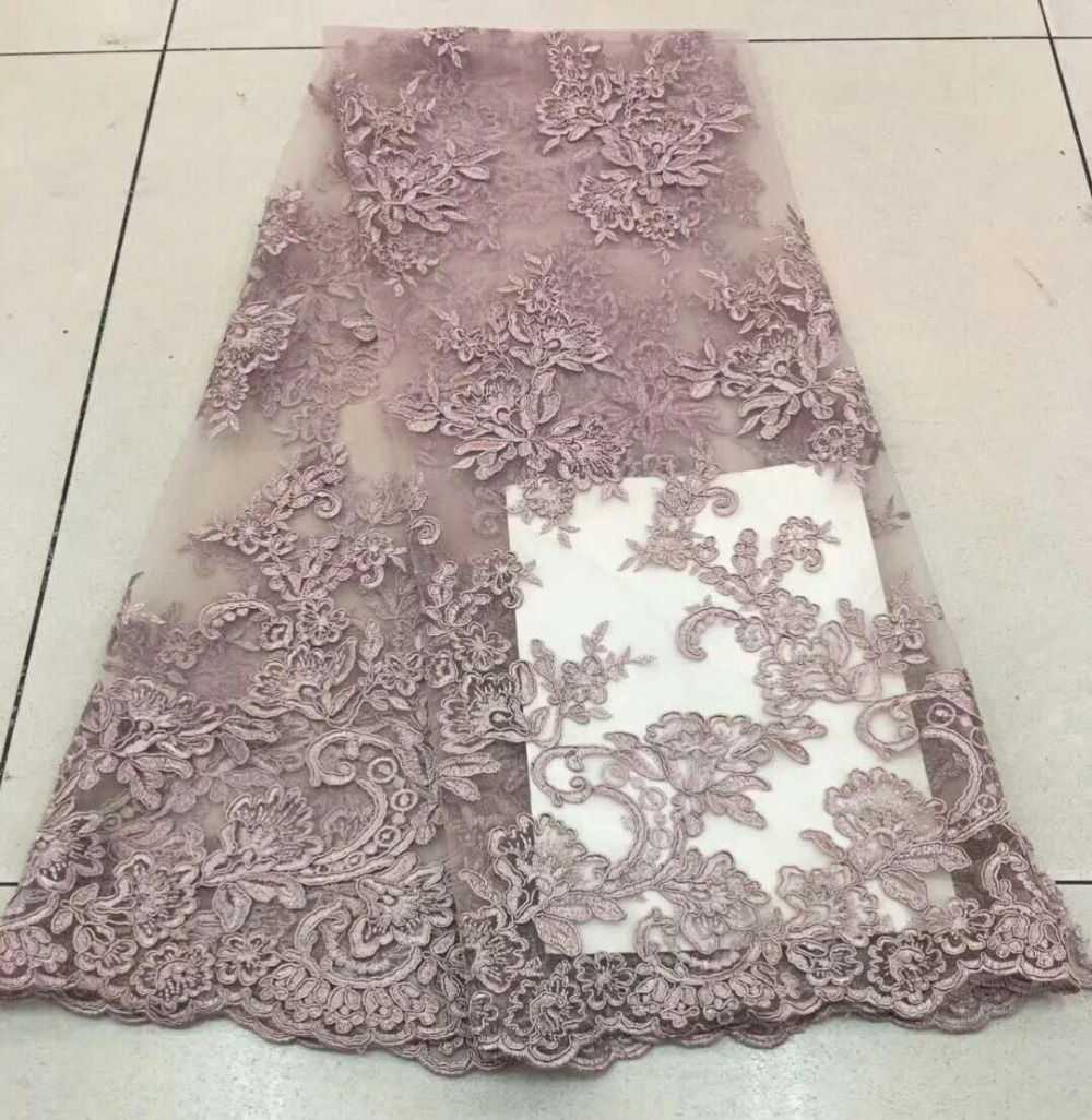 Nigerian Lace Fabrics 2018 African Lace Fabric Latest French Tulle Lace Embroidered Dubai African French Cord
