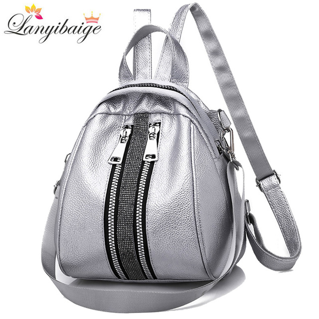 Women Backpack High Quality PU Leather Backpacks 2019 New School Bag For Teenage Girls Woman Shoulder Bag Backpack Shell Type