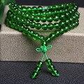 Модные Ювелирные Изделия Агат Кристалл 6 мм Камень Буддийский 108 Четки Мала Браслет Для Женщины Мужчины Ювелирные Изделия Браслеты