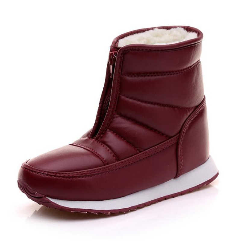 52bc785e92b ... QUANZIXUAN Men Winter Shoes 2018 Waterproof Non-slip Men Snow Boots  Platform Warm Ankle Boots ...