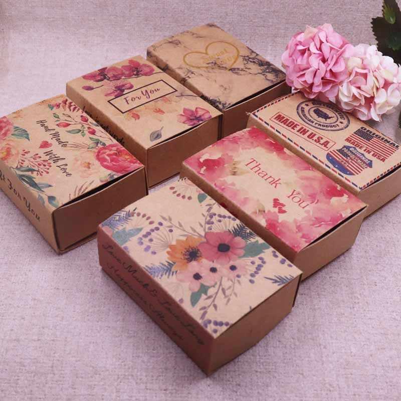 New Hot Mult Designs Printed Gift Box Diy Handmade Love Wedding Favor Box Gift Package Box Soap Box Baby Shower Aliexpress