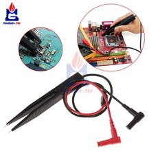 SMD Inductor Test Clip Probe Tweezers 250V For Resistor Multimeter Capacitor Meter Clip Probe For SMD Components Measure