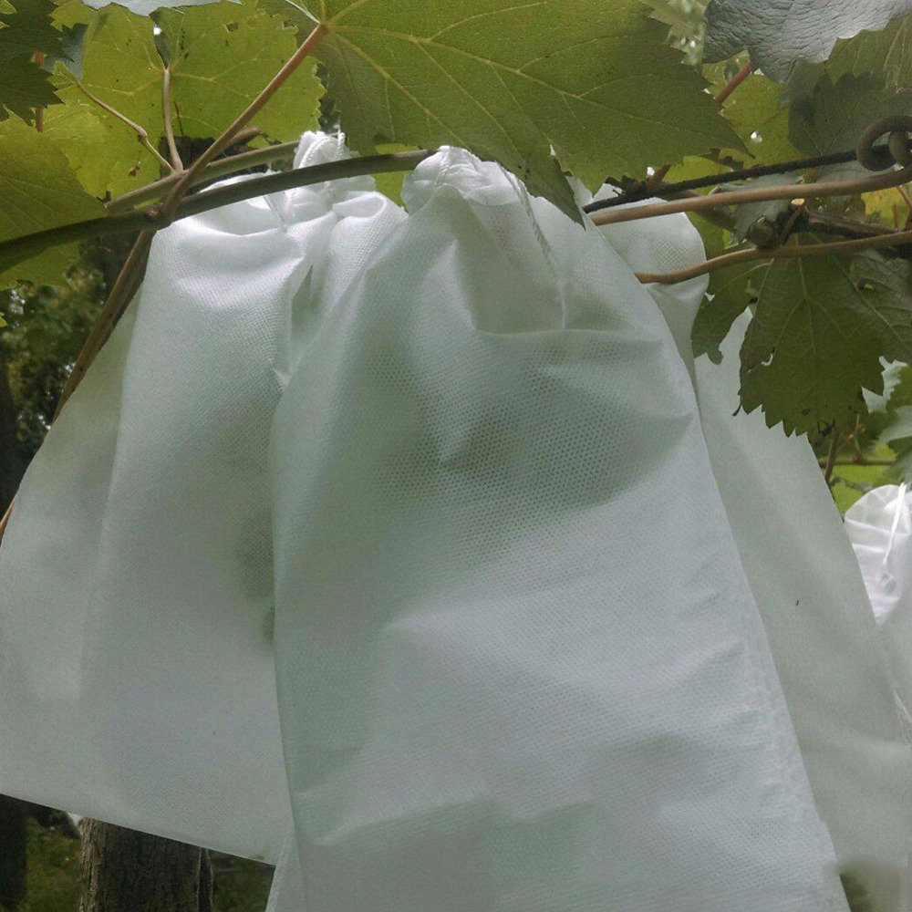 25pcs Garden Fruit Protection Bag Vegetable Grapes Protection Pouch Waterproof Agricultural Pest Control Anti-Bird Mesh Bags