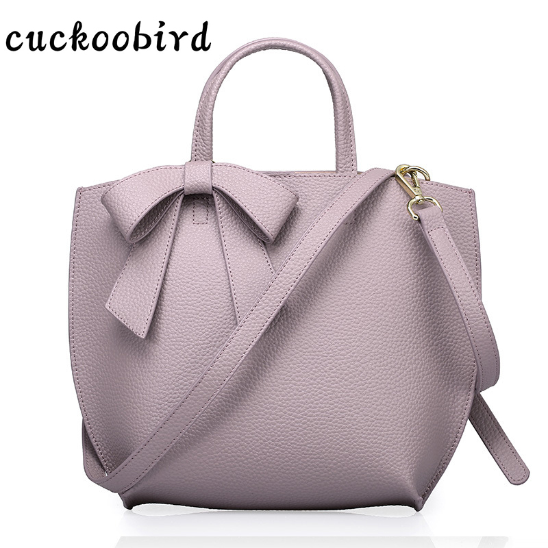 Bow Genuine Leather Handbags for Women Female Purses and Handbags Composite Handbag Famous Brands Shoulder Bag 2017 New composite structures design safety and innovation