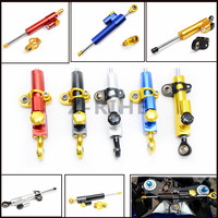 For Universal Motorcycle Aluminum Steering Dampers Stabilizer Fit For Kawasaki Yamaha Suzuki Honda Ducati Triumph Aprilia