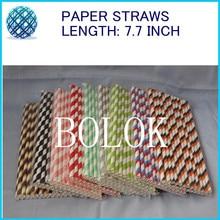 2000pcs/lot chevron paper straws,color paper straws for party favor