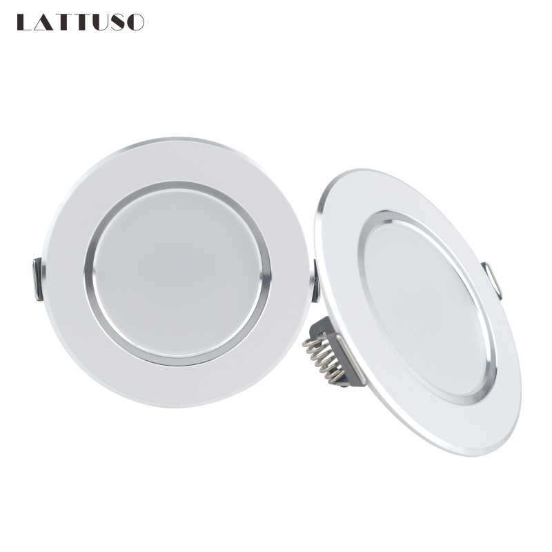 LATTUSO LED Downlight 220V 230V 240V Round Recessed Lamp 3W 5W 7W 9W 12W Led Bulb Bedroom Kitchen Indoor LED Spot Lighting(China)