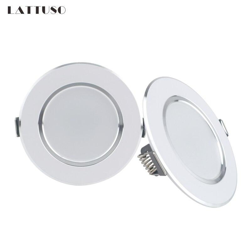 LATTUSO LED Downlight 220V 230V 240V Round Recessed Lamp 3W 5W 7W 9W 12W Led Bulb Bedroom Kitchen Indoor LED Spot Lighting