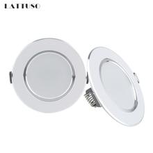 Светодиодный точечный светильник LATTUSO, 220 В, 230 В, 240 в, Круглый встраиваемый светильник, 3 Вт, 5 Вт, 7 Вт, 9 Вт, 12 Вт, светодиодный светильник для спальни, кухни, внутреннего освещения