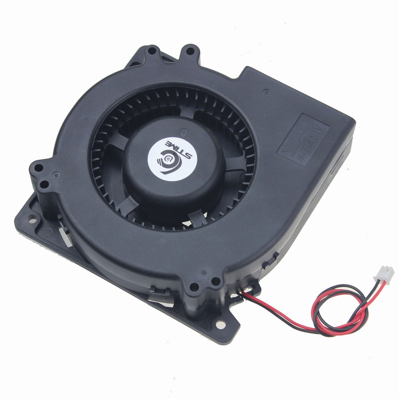 Gdstime 1 piece 2 Wire Cooling Brushless Exhuat Blower Cooling Fan 120mm 2 Pin 120x120x32mm DC 12V 12032 Sleeve Bearing gdstime 5pcs 12cm big fan 120mm x 32mm 120mm blower fan 12v ball bearing dc brushless cooling cooler 120x32mm 2 pin
