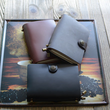 Endless Magic S Real Genuine Cowhide Leather Travel Journal Study Diary Blank Lined Grid Papers Business Notebook