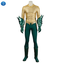 MANLUYUNXIAO Justice League Arthur Curry Aquaman Cosplay Costume Halloween  for Men Jumpsuit Aquaman Costume aquaman vol 01 trench
