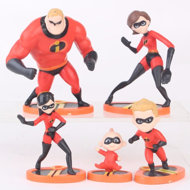 edf6f1736068c 5pcs/set The Incredibles 2 Figures Mr.Incredibles Elastigirl Violet Dash  Jack Parr Mini Cute Ver PVC Hot Toys for Children Kids