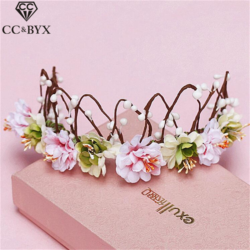 CC Jewelry Crowns Tiaras Flowers Hairbands Crown For Beauty For Women Wedding Hair Accessories Hair Ornaments Handmade DIY 4196