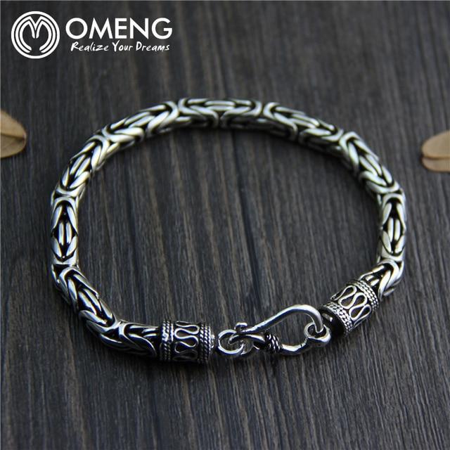 85a960ec97fb OMENG Vintage Hombres Pulsera Joyas pulsera pulsera de plata Tailandesa  s925 Puro para hombres Joyería Famoso