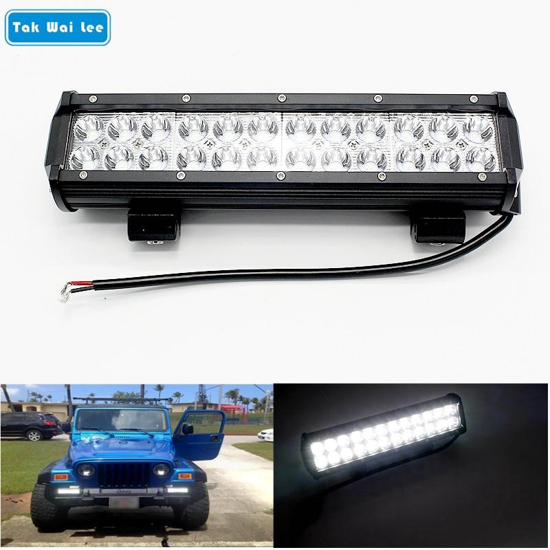 Tak Wai Lee 1 db / szett 72W 12 hüvelykes LED munkavilágító sáv - Autó világítás