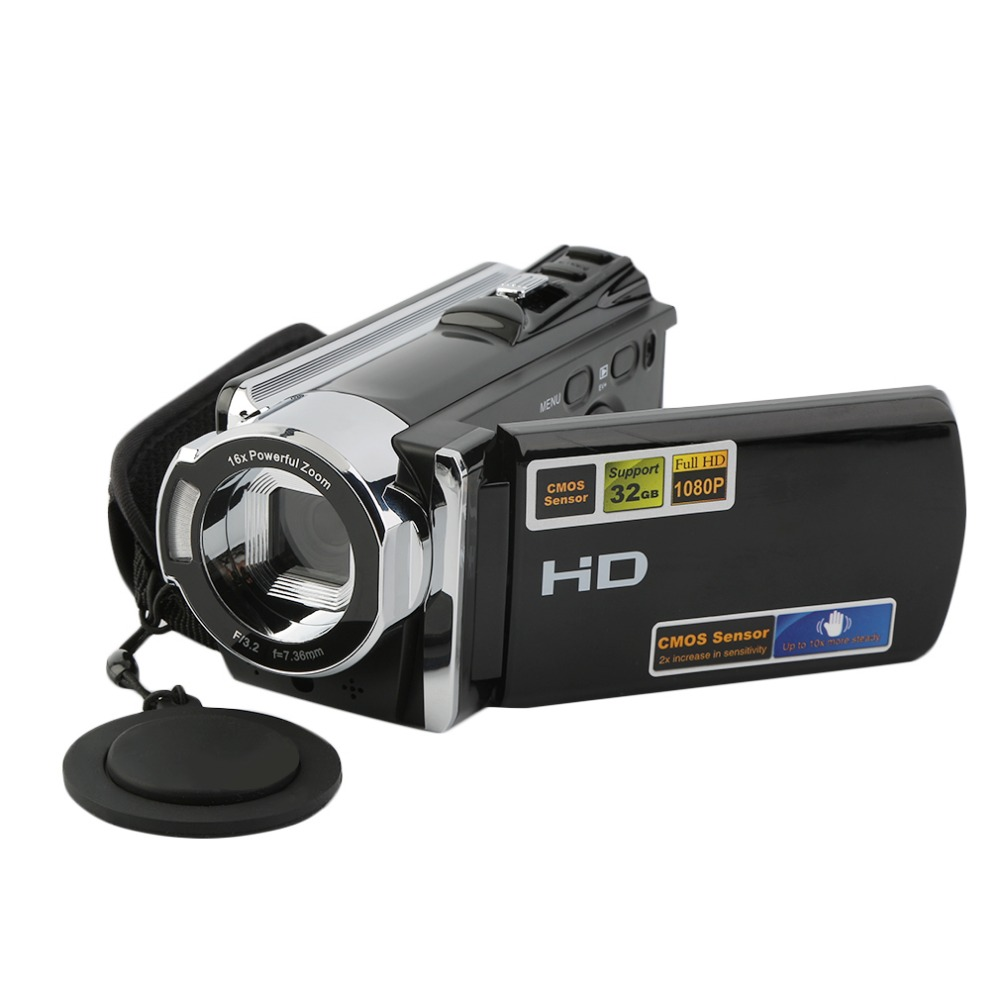 Full HD 1080P Digital Video Camera 20M pixels Automatic Identification of Smiling Face 2.7 inch LCD 16x Zoom Camcorder DV 3MP
