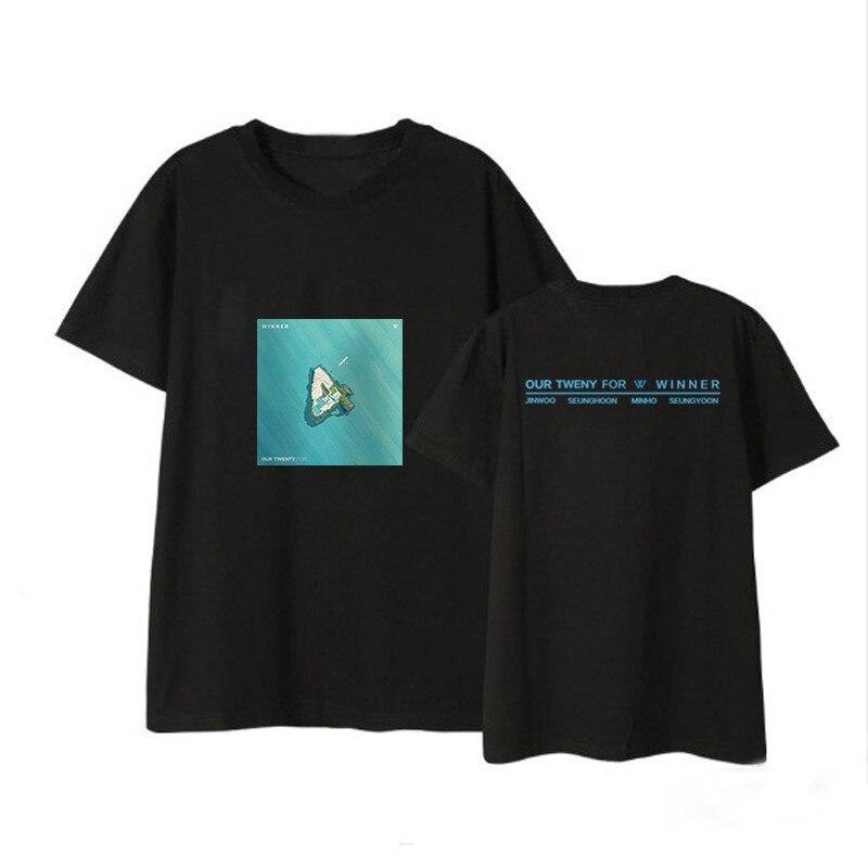 ONGSEONG Kpop WINNER Our Twenty For Album Shirts Hip Hop Casual Loose Clothes Tshirt T Shirt Short Sleeve Tops T-shirt DX530