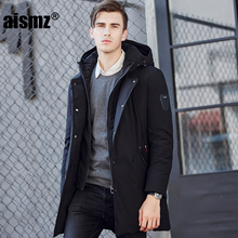 Aismz Design 2017 New Long Winter Down Jacket With Hood Liner Detachable Casual Jackets Thickening Parkas Male Big Coat 1716
