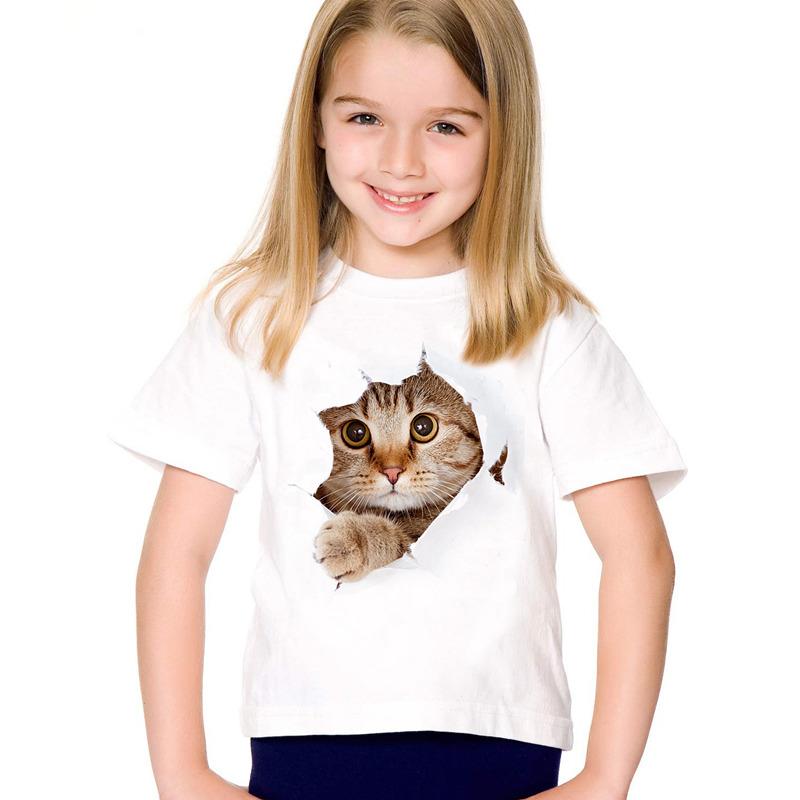 HTB1wlDFSFXXXXchXpXXq6xXFXXX4 - 2017 fashion summer cute children brand clothing for kids girl short sleeve print 3d cat t shirts tops baby clothes