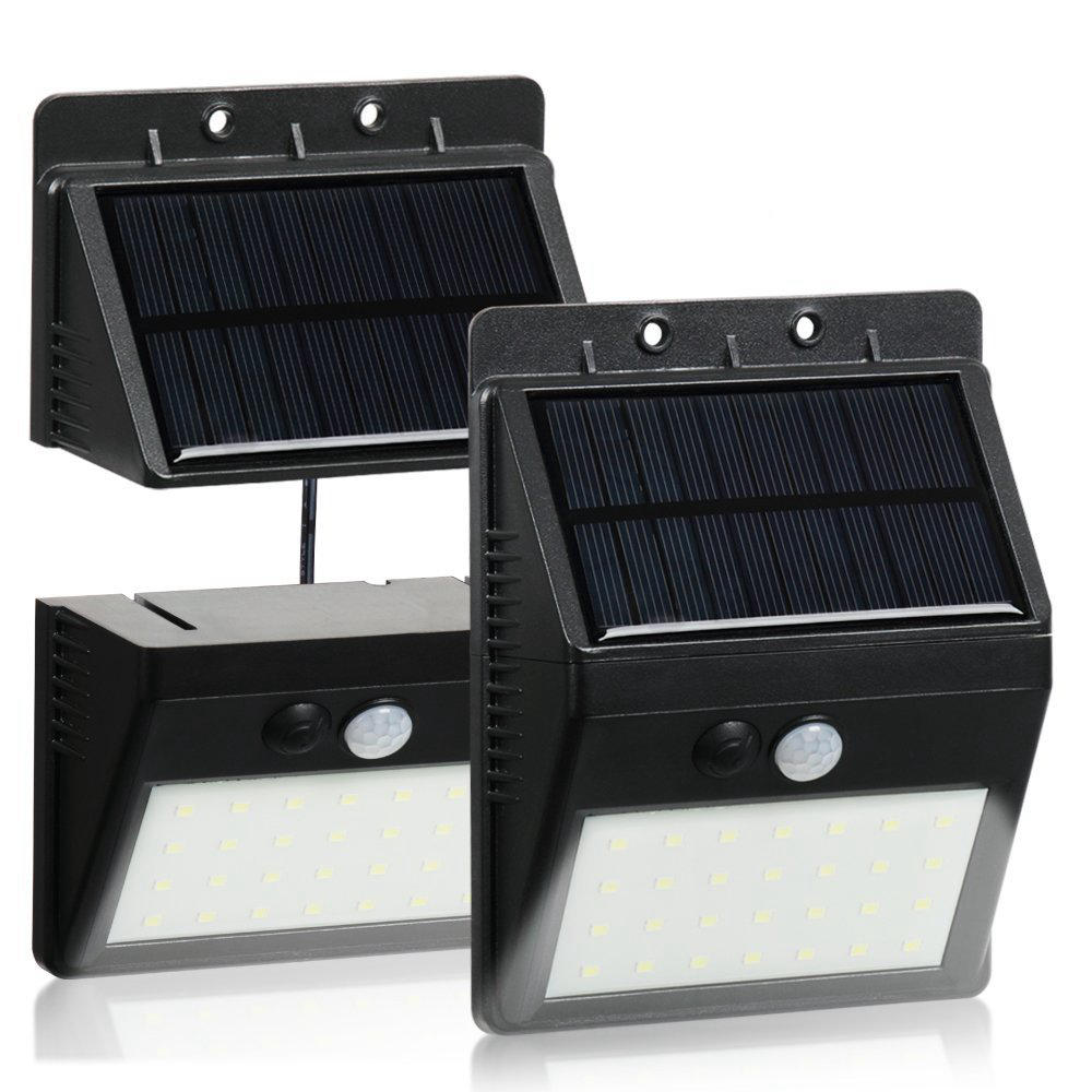 30 LED Solar Lighting PIR Motion Sensor Security Lamp Separable 3 Mode Wall Light For Outdoor Garden Yard
