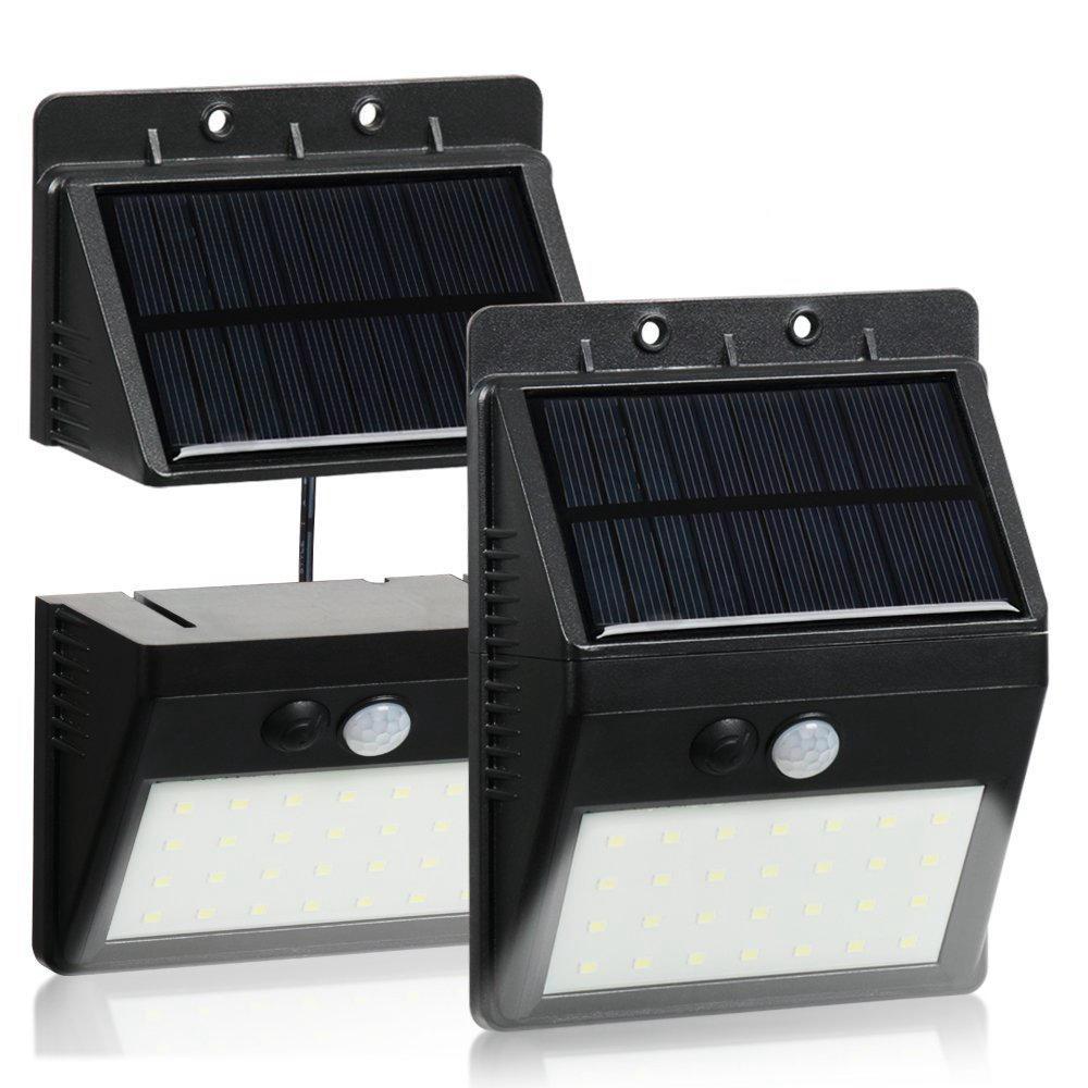 30 LED Solar Lighting PIR Motion Sensor Security Lamp Separable 3 Mode Wall Light For Outdoor Garden Yard